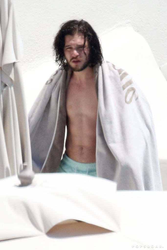 Kit Harington and Rose Leslie Have Had It With Winter, Strip Down in Greece
