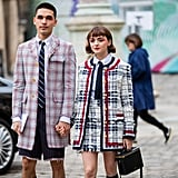 Maisie Williams and Reuben Selby at Thom Browne's Paris Fashion Week Show