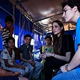 Angelina Jolie Brings Her Angelic Smile to Visit Young Refugees