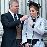 Pictured: Prince Andrew and Princess Beatrice.