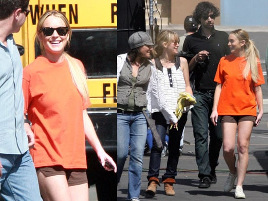 Images of Lindsay Lohan guest starring on Ugly Betty