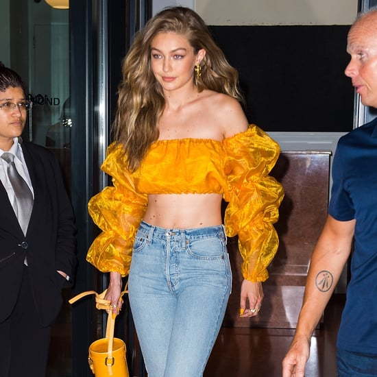 Gigi Hadid Wearing Orange Crop Top July 2018