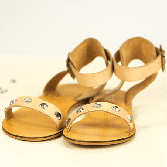 How to Add DIY Rhinestones to Sandals