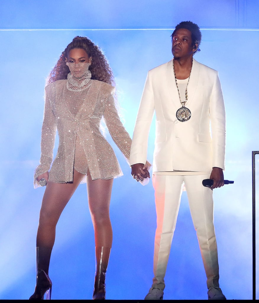 "Beyoncé and JAY-Z are back on the run. The couple, who recently celebrated their 10th wedding anniversary in April, kicked off their On the Run II tour in Cardiff, UK, on Wednesday. The dynamic music duo made a grand entrance at Principality Stadium in a makeshift elevator — alluding to their now-infamous 2014 elevator incident — and sent fans into a frenzy. In between performing a medley of their hits including ""Drunk in Love,"" ""Bonnie and Clyde,"" and ""Family Feud,"" the proud parents also gave fans a rare glimpse of their twins, Sir and Rumi. Check out more photos from the first night of ""the Gangster and the Queen"" joint tour ahead.      Related:                                                                                                           Surprise! Beyoncé and JAY-Z Renewed Their Vows, and Blue, Sir, and Rumi Were All There"