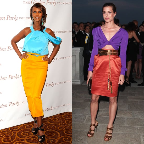 Celeb Dresses: Iman and Charlotte Casiraghi