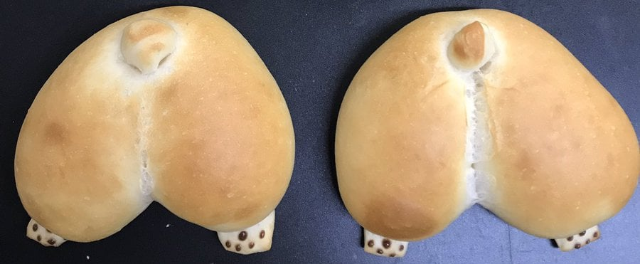OMG: This Bakery in Japan Makes Corgi Butt Bread Buns