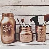 Rose Gold Makeup Brush Holder ($27)