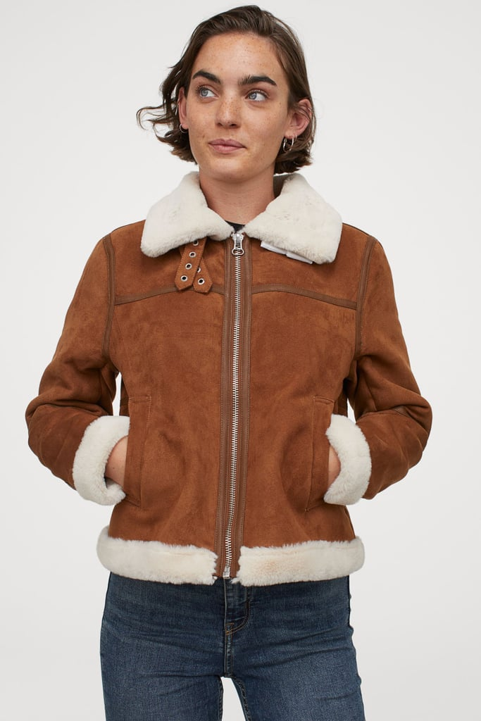 H&M Faux Fur-Lined Jacket