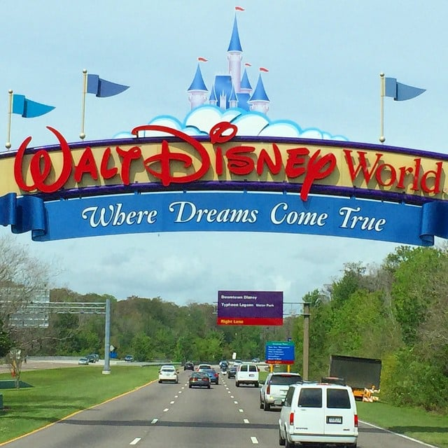 You pretty much can't see Disney property from the highway.