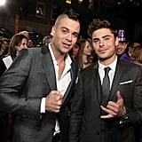 Mark Salling and Zac Efron palled around at Grauman's Chinese Theatre.
