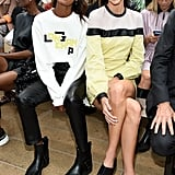 Liya Kebede and Kendall Jenner at Longchamp Spring 2020