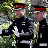 Prince William was by Prince Harry's side when he got married to Meghan Markle.