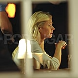 Gwyneth Paltrow shot in a restaurant.
