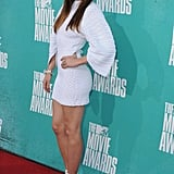 Jessica Biel rocked a white Chanel dress at the MTV Movie Awards.