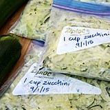 Freeze Grated Courgette