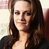 Kristen Stewart's smiled in smokey makeup at the LA Film Festival.
