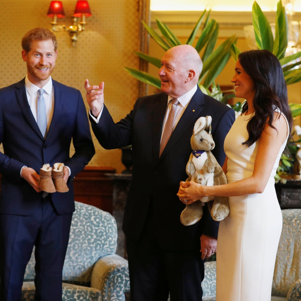 Prince Harry And Meghan Markle Receiving Australian Gifts