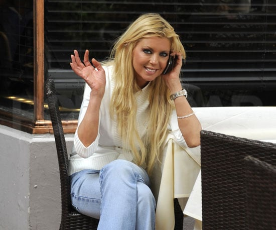 Slide Photo of Bride to Be Tara Reid Chatting on the Phone in Miami