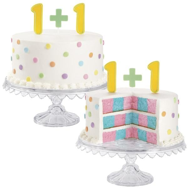Twin Gender Reveal Cake
