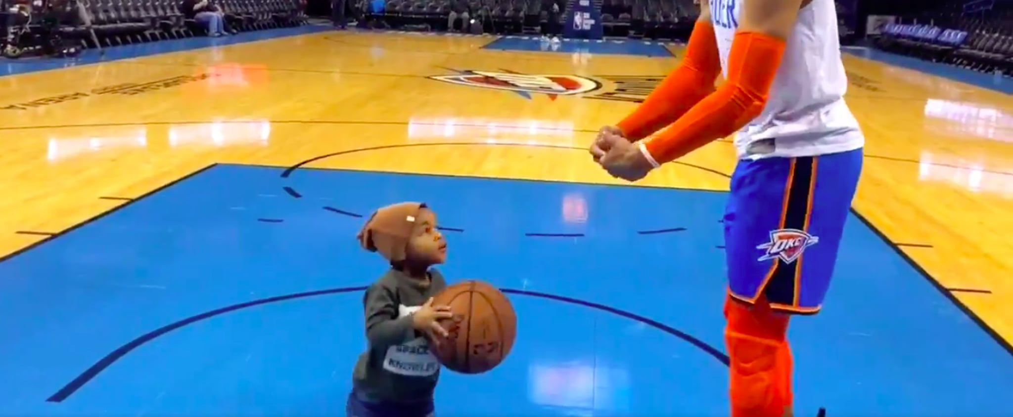 Russell Westbrook Warming Up With Son January 2019 Video
