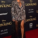 Pictured: Beyoncé Knowles at The Lion King premiere in Hollywood.