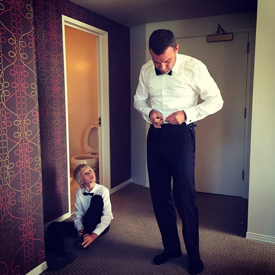 Like Father, Like Son! Liev Schreiber and Sasha Get Ready for the Red Carpet