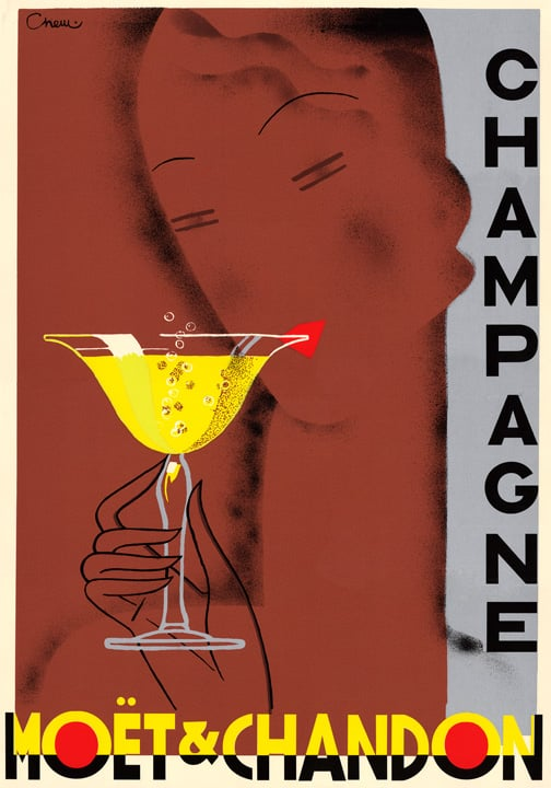 This old-school ad has an art deco feel to it. | Vintage Champagne ...