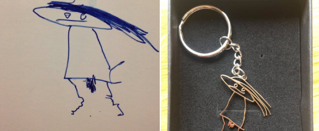 Mom Turns Son's Funny Drawing of Her Into a Keychain