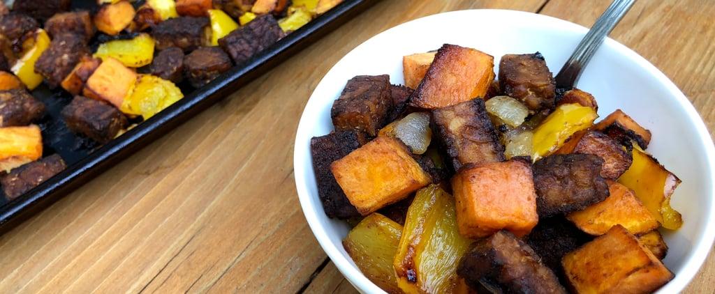 Roasted Tempeh, Sweet Potato, Pepper 1-Pan Meal