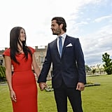 Sofia and Prince Carl Philip exchanged sweet glances during their June 2014 engagement photo shoot in Sweden.