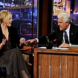 Charlize and Jay joked around on The Tonight Show.