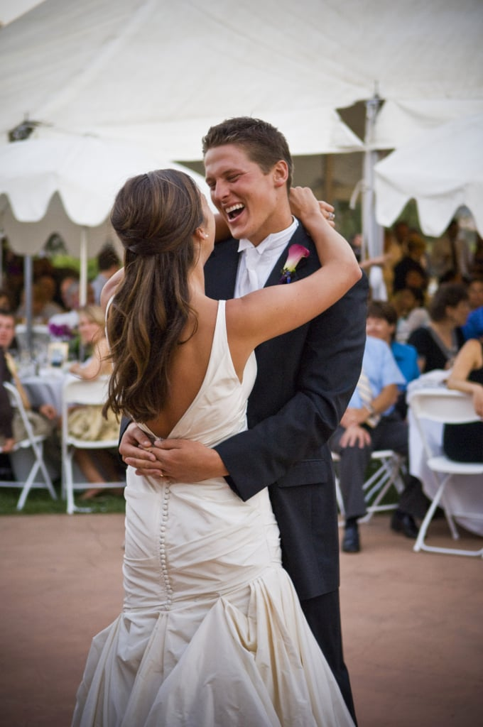 "Teenage romance doesn't always last past graduation, but for high school sweethearts Kendall and Dustin, a friendship sparked in yearbook class led to their ""I dos."" The pair tied the knot at a local winery in Morgan Hill, CA. See the wedding here!"