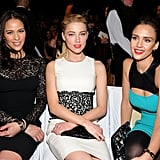 Paula Patton and Amber Heard wore lace-embellished dresses while Jessica Alba picked a bold pop of color.