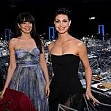 Homeland's Morena Baccarin and Zuleikha Robinson got together inside the show.