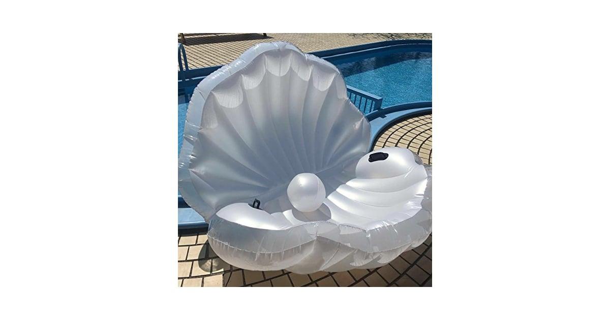 Giant Inflatable Seashell Pool Float Mermaid Floats