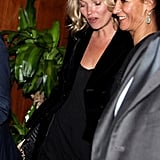Kate Moss Trades London Fashion Week Parties For One in Milan
