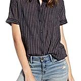 Treasure & Bond Stripe Button-Up Shirt