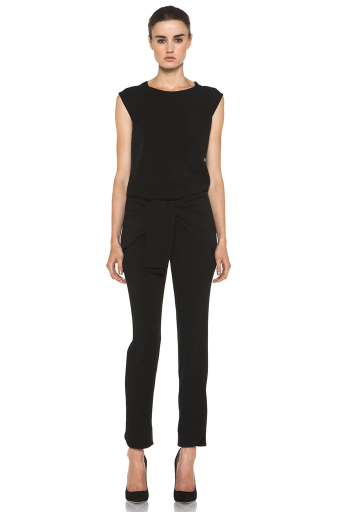 Instead of the per-usual little black dress, I plan on donning this Theyskens' Theory Ginta jumpsuit ($795) to all of my holiday parties this season. The wrap detail is a nice touch, and I can easily dress it up with some glamorous jewels and shoes. — Chi Diem Chau, associate editor