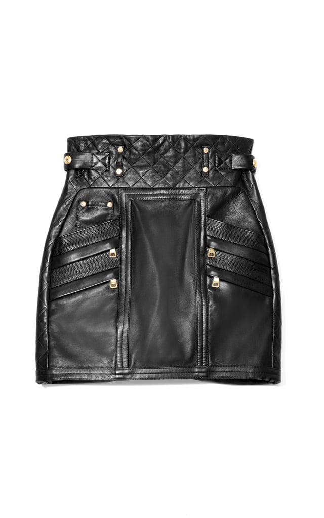 Balmain Mini Quilted Leather Skirt ($4,180)