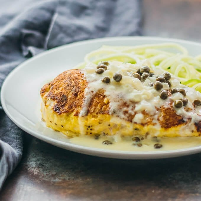 Pan-Seared Baked Chicken With Creamy Lemon Caper Sauce