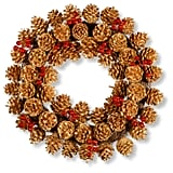 Glittered Pinecone Wreath