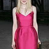 Dakota Fanning looked cute in a pink Lanvin dress at the Vanity Fair Party.