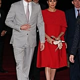 Meghan Markle Wears Red Dress in Morocco Feb. 2019