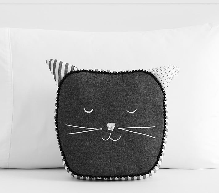 Black Cat Shaped Pillow