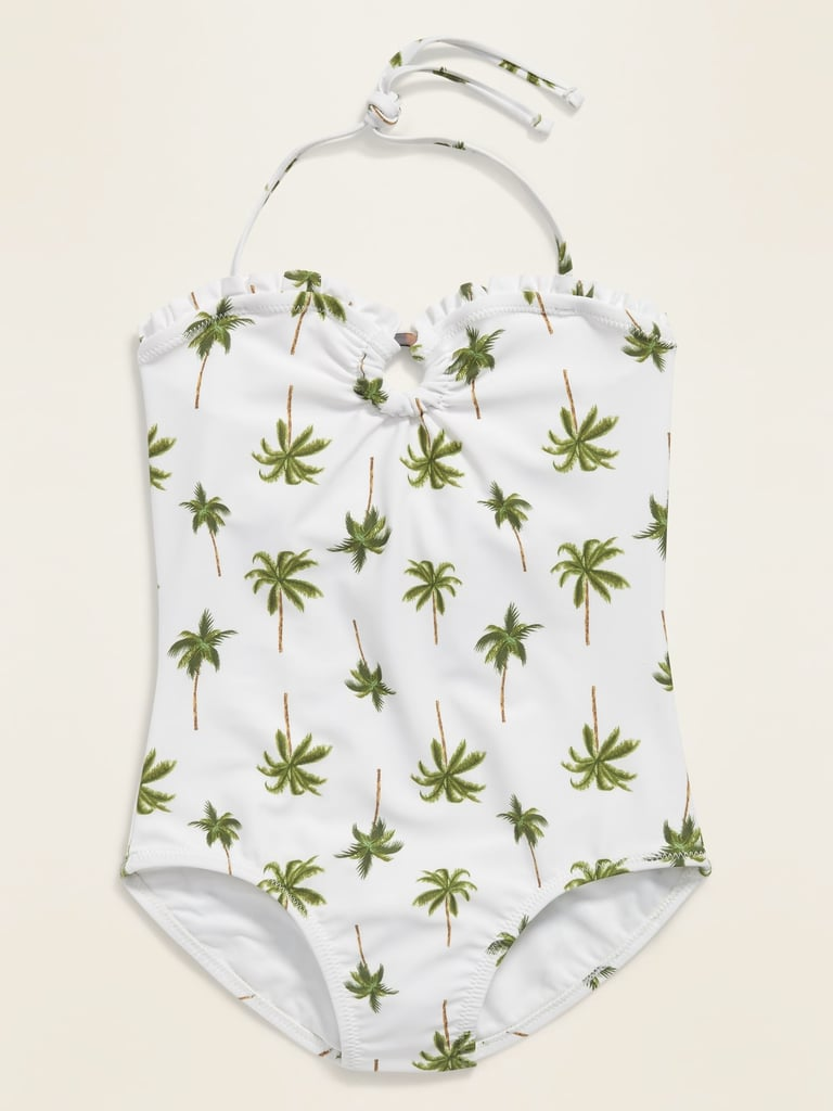 Old Navy Printed Halter Swimsuit
