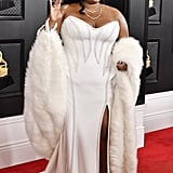 Lizzo at the 2020 Grammys in Atelier Versace