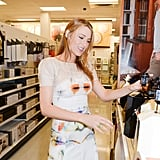 Blake Lively examined some goods in Target.