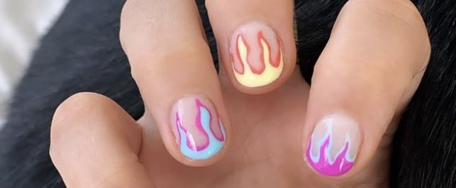 Demi Lovato's Flame Nails