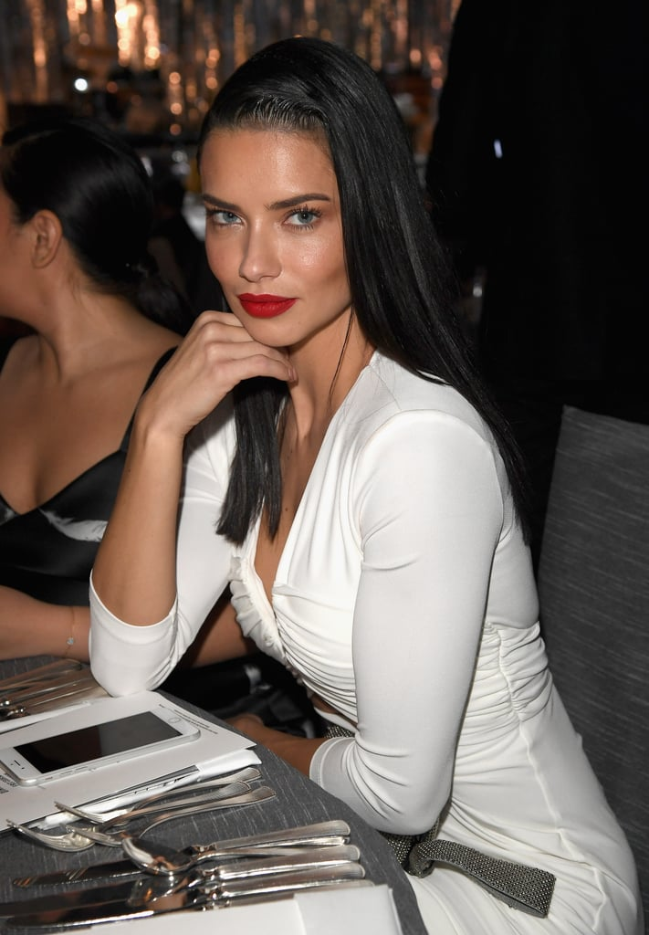 Adriana Lima At The 2017 Oscars Viewing Party Popsugar