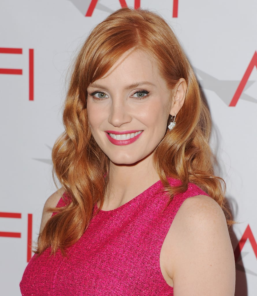 january 2015 jessica chastain s best hair and makeup looks